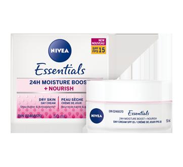 Image 3 du produit Nivea - Essentials 24h Moisture Boost + Nourish crème de jour FPS 15, 50 ml, peau sèche