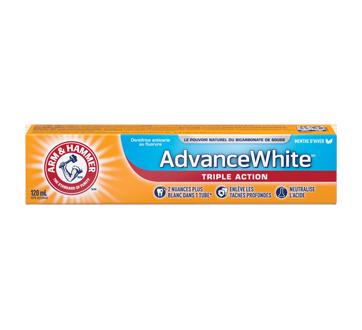 Image 2 du produit Arm & Hammer - Extra Blanchissant dentifrice, 120 ml, menthe fraîche