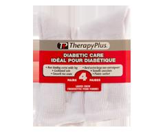 Image du produit Therapy Plus - Chaussettes pour diabétique mi-jambe femme, 4 paires, 9-11 blanc