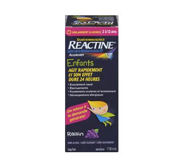 Image du produit Reactine - Reactine sirop pour enfants, 118 ml, raisin
