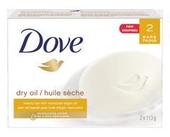 Image du produit Dove - Pain de beauté hydratant à l'huile sèche, 2 x 113 g