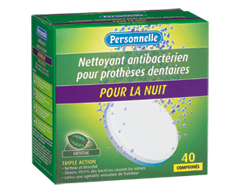 Image du produit Personnelle - Nettoyant antibactérien pour prothèses dentaires - Pour la nuit, 40 comprimés