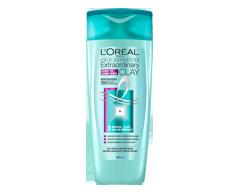 Image du produit L'Oréal Paris - Hair Expertise Extraordinary Clay shampooing, 385 ml, pour racines grasses et pointes sèches