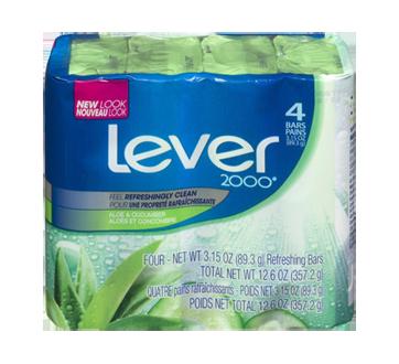 Pain de savon, 4 x 89 g, aloès et concombre