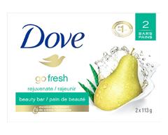 Image du produit Dove - Go Fresh nettoyant pain de beauté, 2 x 113 g