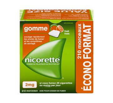 Image 1 du produit Nicorette - Gomme à la nicotine, 210 unités, 2 mg, fruit frais