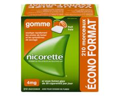 Image du produit Nicorette - Gomme à la nicotine, 210 units, 4 mg, fruit frais