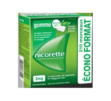 Image du produit Nicorette - Gomme de polacrilex de nicotine USP 2 mg, 210 unités, menthe ultra fraîche