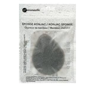 Éponge Konjac, 1 unité, charbon de bambou
