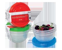 Image du produit Home Exclusives - Contenants pour aliments avec couvercles, 3 x 350 ml