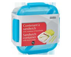 Image du produit Home Exclusives - Contenant à sandwich avec couteau et fourchette, 1 unité, carré