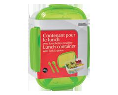 Image du produit Home Exclusives - Contenant pour le lunch avec fourchette et cuiller, 1 unité, rectangulaire