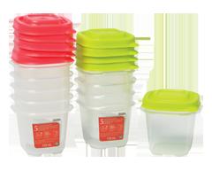 Image du produit Home Exclusives - Contenants pour aliments avec couvercles, 5 x 118 ml