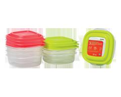 Image du produit Home Exclusives - Contenants pour aliments avec couvercles, 3 x 295 ml