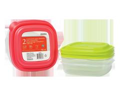 Image du produit Home Exclusives - Contenants pour aliments avec couvercles, 2 x 708 ml