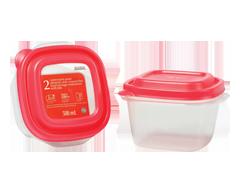 Image du produit Home Exclusives - Contenants pour aliments avec couvercles, 2 x 500 ml