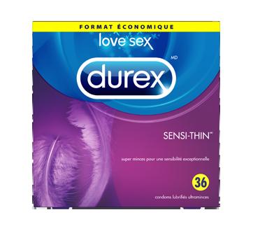Image du produit Durex - Condoms Sensi-Thin lubrifiés, 36 unités
