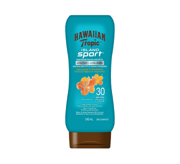 Island Sport lotion écrant solaier FPS30 ultra-légère, 240 ml