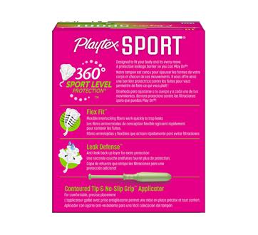 Image 2 du produit Playtex - Tampons Playtex Sport en plastique, 18 unités, multi-emballage, non parfumés