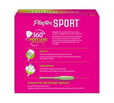 Image 2 du produit Playtex - Tampons Playtex Sport en plastique, 36 unités, super plus, non parfumés