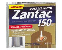 Image du produit Zantac - Zantac 150, dose maximale, comprimés sans ordonnance, 8 unités