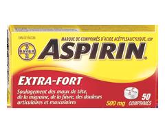 Image du produit Aspirin - Aspirin extra-fort comprimés 500 mg, 50 unités