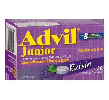 Image du produit Advil - Advil Junior comprimé à croquer, 20 unités, raisin