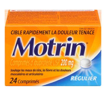 Image du produit Motrin - Régulier, comprimés 200 mg, 24 unités