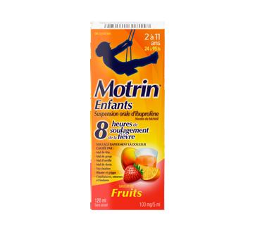 Image 1 du produit Motrin - Motrinsuspension orale pour enfants sans colorant, 120 ml, fruits