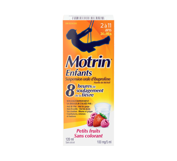 Image du produit Motrin - Suspension sans colorant pour enfants, 120 ml, petits fruits