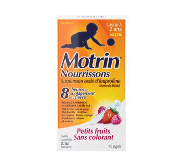 Image du produit Motrin - Gouttes de suspension pour nourrissons, sans colorant, 1 L, petits fruits