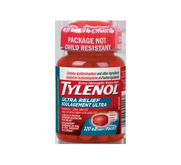 Image du produit Tylenol - Tylenol soulagement ultra contre le mal de tête, 120 unités