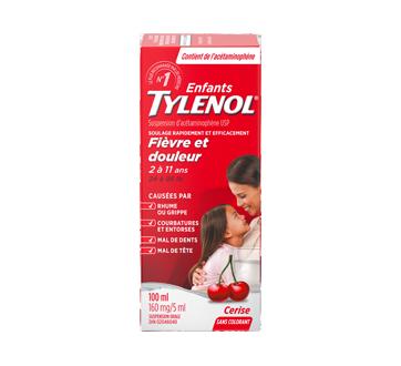 Image 1 du produit Tylenol - Tylenol suspension orale d'acétaminophène pour enfants sans colorant, 100 ml, cerise