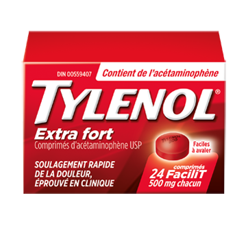 Image du produit Tylenol - Tylenol extra fort 500 mg, 24 unités