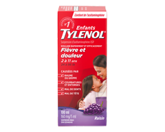 Image du produit Tylenol - Tylenol pour enfants suspension orale d'acétaminophène, 100 ml, raisin