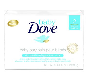 Pain pour bébé hydratation riche, 2 x 90 g