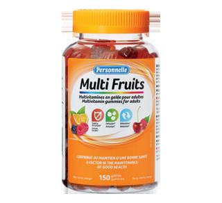 Multi Fruits multivitamines en gelée pour adultes, 150 unités