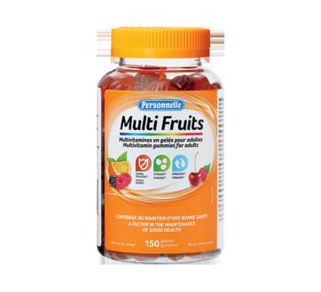 Image du produit Personnelle - Multi Fruits multivitamines en gelée pour adultes, 150 unités