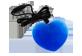 Vignette du produit fdmt - Pendentif en cœur, 1 unité, bleu