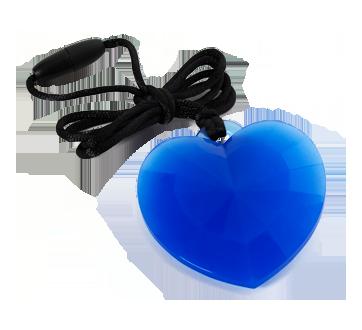 Pendentif en cœur, 1 unité, bleu