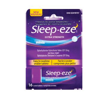 Image du produit Sleep-Eze - Sleep-Eze minis comprimés soulagement de l'insomnie, extra-fort, 16 unités