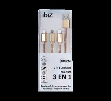 Câble USB 3 en 1, 1 unité