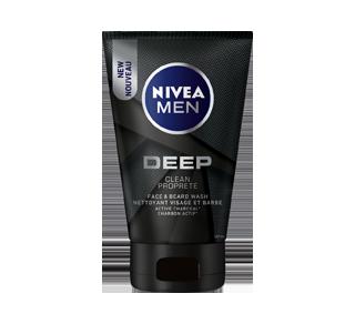 Deep nettoyant visage et barbe avec charbon actif, 100 ml
