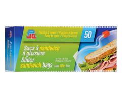 Image du produit PJC - Sacs à sandwich à glissière, 50 unités