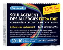 Image du produit Personnelle - Soulagement des allergies extra fort, 30 unités