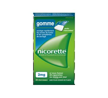 Image du produit Nicorette - Gomme à la nicotine, 30 unités, 2 mg, frissons extrêmes