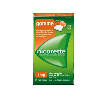Image du produit Nicorette - Gomme à la nicotine, 30 unités, 4 mg, fruit frais