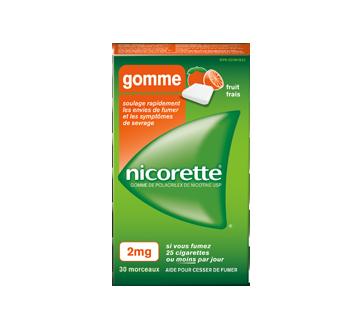 Image du produit Nicorette - Gomme à la nicotine, 30 unités, 2 mg, fruit frais