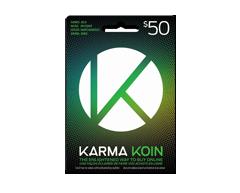 Image du produit Incomm - Carte Karma Koins prépayée de 50 $