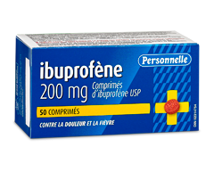 Image du produit Personnelle - Comprimés d'ibuprofène 200 mg, 50 comprimés
